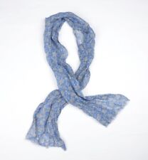 100% Leinen Linen Schal Scarf Made in Italy Paisleymuster Blau Blue Light COOL
