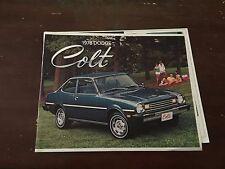 1978 Dodge Colt Car Auto Dealership Advertising Brochure