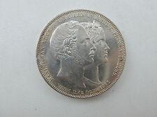 Doppeltaler 1842 Bayern Ludwig I. / Hochzeit v. Kronprinz Maximilian