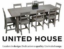 Timber Dining Room Furniture Sets with 9 Pieces