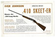 Original 1933 Iver Johnson .410 Shotgun Flyer Skeet-er Nra Stamp