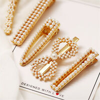 Elegant Classic White Pearl Hair Clips Hairpin Barrette Bobby Hair Accessories