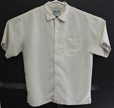 Big Dogs Mens Beige Short Sleeve Button Front Medium Shirt EUC