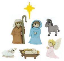 Jesse James Buttons ~ Dress It Up ~ SILENT NIGHT  ~ Christmas Nativity  ~ Crafts