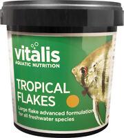 Vitalis Tropical Flakes 90gr Flockenfutter für alle Tropische Süßwasserfischen