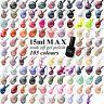 MAX NEW 105 Colours 15ml Nail Art Soak Off Gel Polish Manicure UV / LED Lamp