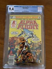ALPHA FLIGHT 1 CGC 9.4 NM NEWSSTAND WHITE PAGES 1ST APPEARANCE PUCK & MARRINA