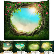Forest Tapestry Wall Hanging Bedspread Throw Blanket Tapestries Room Home Decor