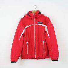 VINTAGE WOMEN'S COLMAR Rosso Imbottito con Cappuccio Cappotto Giacca da sci montagna | EU 44 UK 16