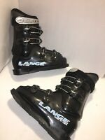 Lange Comp 60 Team Junior Fit Downhill Ski Boots Mondopoint 24.5 Mondo Black