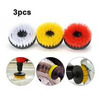 """3pc Carpet Mat 5"""" Round Brush w/Power Drill Attachment Car Care & Detailing Tool"""