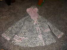 BABY BISCOTTI 4T LEAOPARD CHEETAH PINKT COAT W FLOWERS