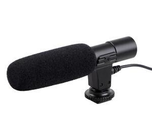 ayex Richtmikrofon Mikrofon für Camcorder u. DSLR Kameras
