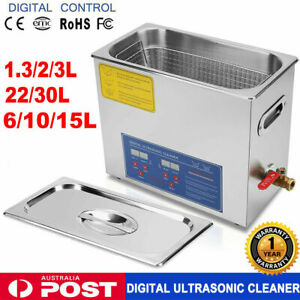 Digital Ultrasonic Cleaner UltraSonic Bath Cleaning Tank Timer Heater industrial
