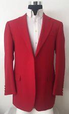 Bobby Jones Red Wool Blazer Sport Coat Made In The USA 40r Men's Golf