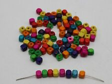 1000 Mixed Color Wood Cube Beads 5X5mm~Wooden Beads