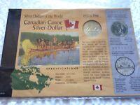Canadian Canoe Silver Dollar World Collection Coin COA