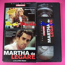 VHS film MARTHA DA LEGARE Monica Potter Joseph Fiennes L'ESPRESSO (F96) no dvd