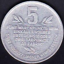 1932 GERMANY KARL A. LINGNER 5 WARENPUNKTE TOKEN EF
