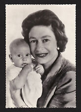c1964 real photo Queen Elizabeth II & baby Edward UK Royalty 4x6 postcard