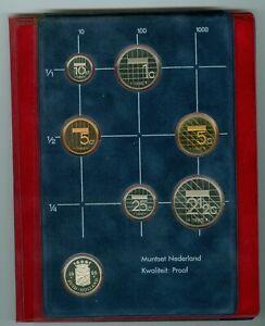 Niederlande Gulden-Kursmünzensatz 1982 PP  (8,90 Gulden)