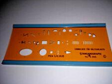Standardgraph  Nr 4366   Sinnbilder für Kälteanlagen  Zeichenschablne
