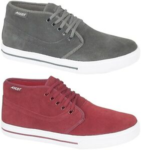 Mens Suede Desert Boots In a Baseball Trainer Style