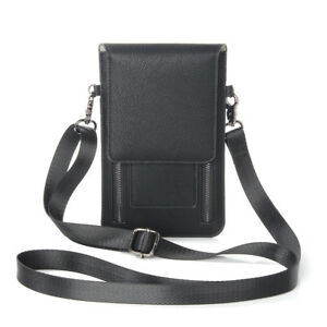 Girl Leather Purse Zipper Shoulder Bag Case For iPhone 7 Samsung S8 Huawei Redmi