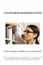 Californiabarhelp.com MBE Answers and Analysis(2) : Because Taking the Bar...