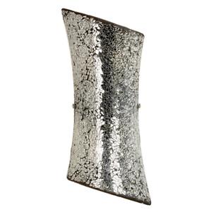Milo Lighting Marconi 2-Light Wall Light Mosaic Glass, Silver W 20 x D 8 x H38cm