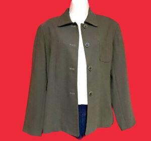 LOFT ~ ANN TAYLOR ... Lined Wool Blazer Jacket ... Dark Green ... Petite Size 10