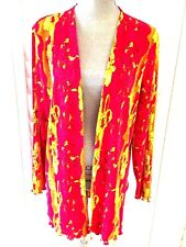 MATANA OPEN FRONT TOP SIZE XL  HOT PINK/YELLOW/MULTI PRINT MADE IN USA
