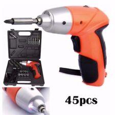 Mini Portable Electric Drill Cordless Screwdriver 45pcs TOOLs (Orange)