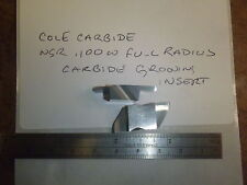 "Cole Carbide NG .100"" Wide Full Radius Top Notch Style Carbide Grooving Insert"