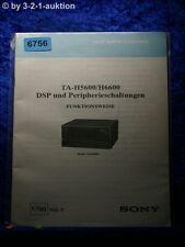 Sony ta h5600/h6600 DSP et périphérie circuits fonctionnement (#6756)