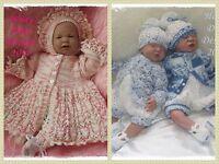 Honeydropdesigns * Blossom/Huckleberry * 2 PAPER KNITTING PATTERNS * Reborn/Baby