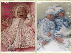 A4 PAPER KNITTING PATTERNS (Set of 2) * Blossom/Huckleberry * Reborn/Baby