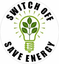 10x SWITCH OFF - SAVE ENERGY Vinyl Stickers Decal wall sticker