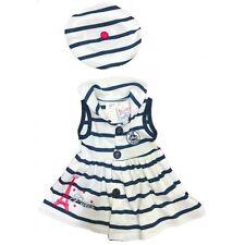 PARIS Navy Blue & White Striped Sailor Dress w/ Beret 18M Sparkly Eiffel Tower!!
