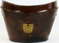 1897 Brown Leather Hat Box