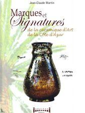 Marques et Signatures de la céramique d'art Côte d'Azur