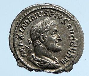 Maximinus I Thrax 236AD Silver Rare OLD Ancient Roman Coin PAX SCEPTRE i95871