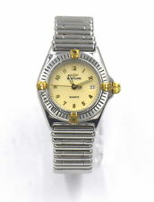 LADIES BREITLING CALLISTINO B5204 DATE WRISTWATCH 18K GOLD STAINLESS BOX PAPERS