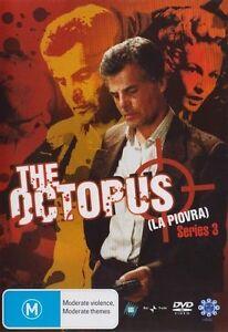 THE OCTOPUS (LA PIOVRA) - SERIES 3 (3 DVD SET) BRAND NEW!!! SEALED!!!