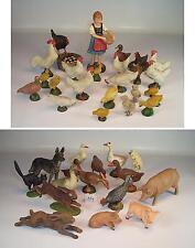 Elastolin / Lineol Masse Figuren Bauernhof Konvolut mit 39 Tieren & Magd #119