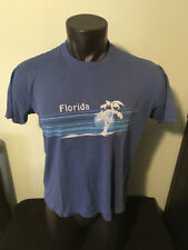 Vtg State of Florida Sportswear 50/50 Blend Shirt Mens Large Made in Usa