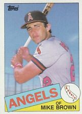 FREE SHIPPING-MINT-1985 (ANGELS) Topps #258 Mike C. Brown