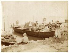 Italie - Carlo Naya Venezia - Chioggia Sotto Marina - Epreuve albuminée 1875 -