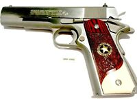 1911 GRIPS,SCROLLED ROSE WOOD,FITS COLT,RUGER,TAURUS,PARA,KIMBER,SIG,SPRINGFIELD