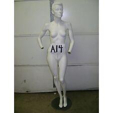 Chalk White Fiberglass Female Mannequin w/ Base A14